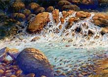 Oil Painting: Falling Water