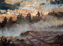 Oil Painting:  Sooke Harbor